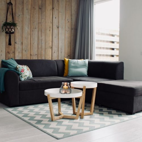 Carpet Cleaning Sunshine Coast - modern lounge set with dark couch